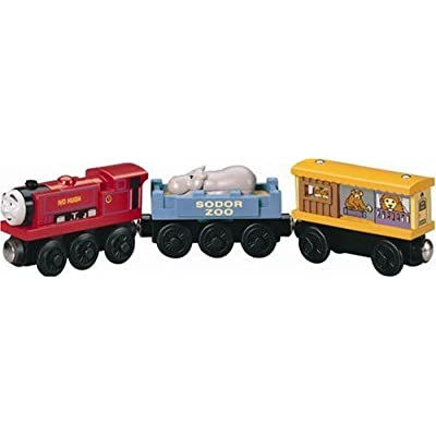 Learning Curve Thomas and Friends Wooden Railway - Ivo Hugh with Zoo Cars by Learning Curve: Toys & Games