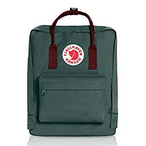 Fjallraven - Kanken Classic Pack, Heritage and Responsibility Since 1960, One Size,Forest Green/Ox Red
