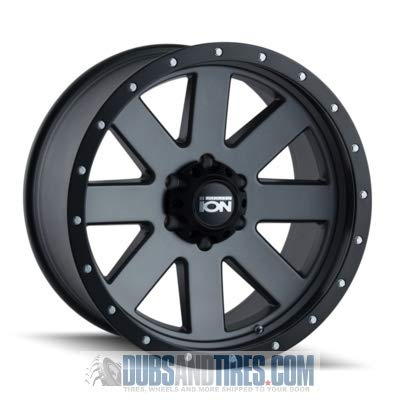ION (134) GRAY Wheel with MATTE GUNMETAL WITH BLACK BEADLOCK (0 x 10. inches /6 x 139 mm, -19 mm offset) -  Ion Wheels, 134-2183MG