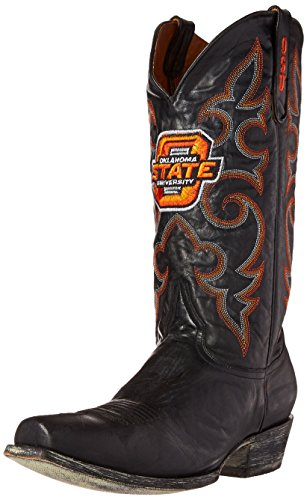 (NCAA Oklahoma State Cowboys Men's Board Room Style Boots, Black, 10.5 D (M))