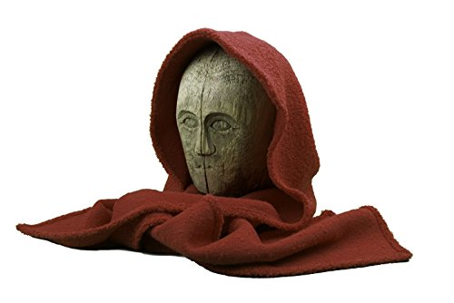 Scarf, Hood, Head Scarf, Wool, Women, Red, One size