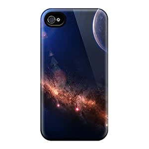 Hard Plastic Iphone 4/4s Cases Back Covers,hot Around The World Space Cases At Perfect Customized