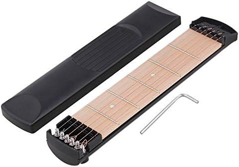 Yibuy - Mástil de guitarra portátil con 6 cuerdas y 6 trastes ...