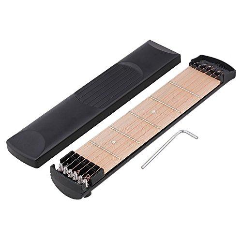 Yibuy Black 6 String 6 Fret Protable Pocket Guitar Practice Tool Gadget Trainer Left Handed