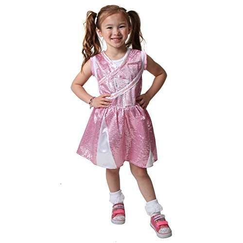 Storybook Wishes Girls Pink Cheerleader Dress, Size 4/6 -