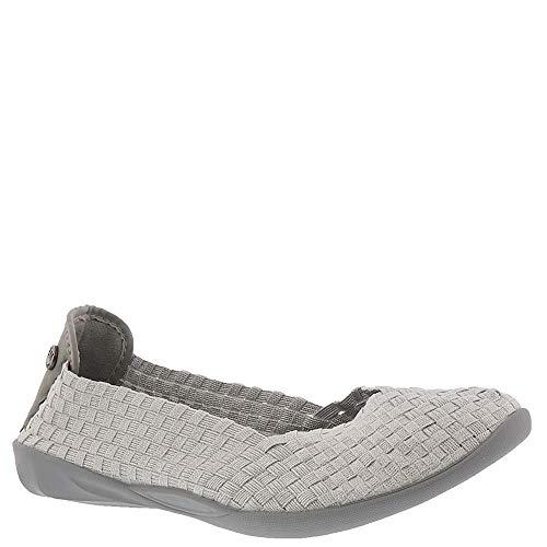 Bernie Mev Women's, Catwalk Slip-on Shoe White/Silver 3.8 M