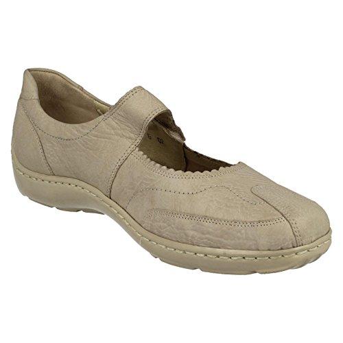 Waldlaufer estilo de Jane para planos mujer Zapatos casual 496302 crema Mary qnx8wpTP4