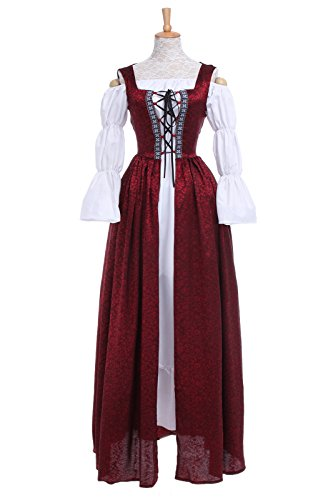[ROLECOS Womens Halloween Costume Party Bavarian Bar Maid Costume XL] (Beer Maids Costume)