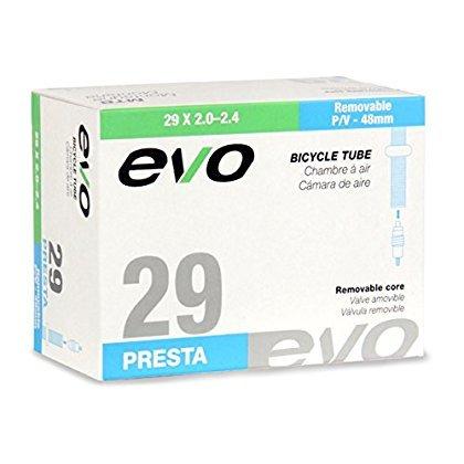EVO Bicycle Tube - 29 x 2.0/2.4 - 48mm Presta Valve w/Removable Valve Core (29 x 2.0/2.4 - 48mm Presta Valve) [並行輸入品]