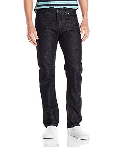 Southpole Men's Flex Stretch Basic Twill Denim Pants, Rinse Black, 40x32 - Rbk Skate Pant