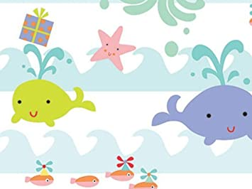 Amazon Com Sea Babies Baby Girl Or Boy Gift Wrap Wrapping Paper 16