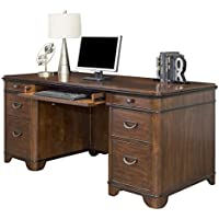 Martin Furniture Kensington Double Pedestal Executive Desk - Fully Assembled