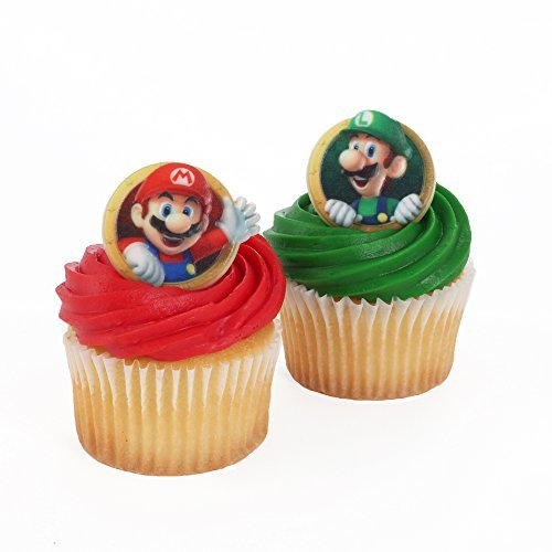 - Super Mario Officially Licensed 24 Cupcake Topper Rings