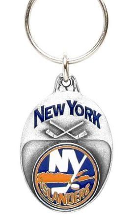 Amazon.com: New York Islanders peltre de hockey NHL Llavero ...