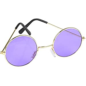 Rhode Island Novelty John Lennon Funky Retro 70s Costume Glass, Purple