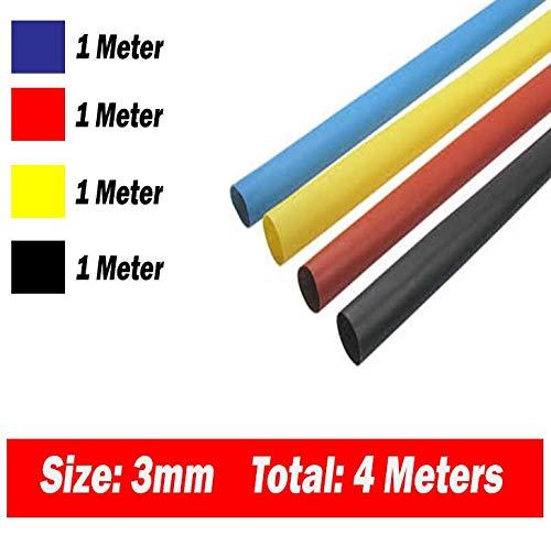 Six Colors 4mm Heat Shrinkable Tube Shrink Tubing 1meter