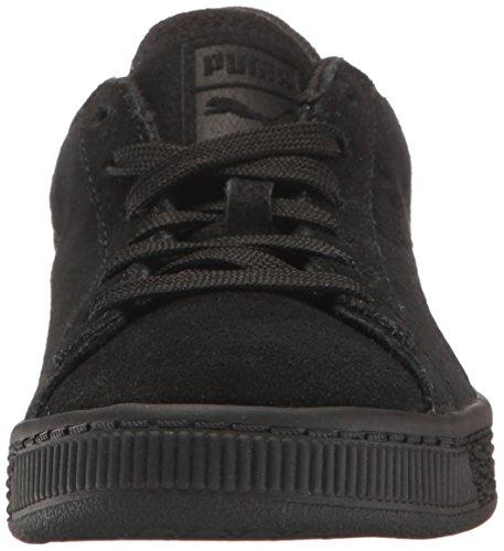 Puma Suede Classsic Badge Ps - Zapatillas de Piel para niño morado cabernet Puma Black-puma Black