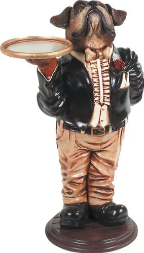 Whimsical Treasures by AFD Home 10016364 Boxer Butler Statue Decorative Accent