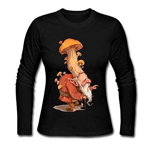 Coffee Cup Costumes Pattern (Mushroom King Women's Soft Long Sleeve Round Neck Pullover Sweatshirt Pullover Shirt Tops)