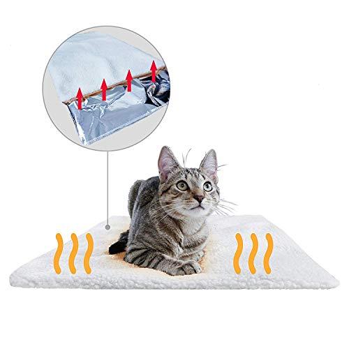 PiuPet® Selbstheizende Decke für Katzen & Hunde, Größe: 60x45cm, Innovative & Umweltfreundliche Wärmematte, Katzendecke