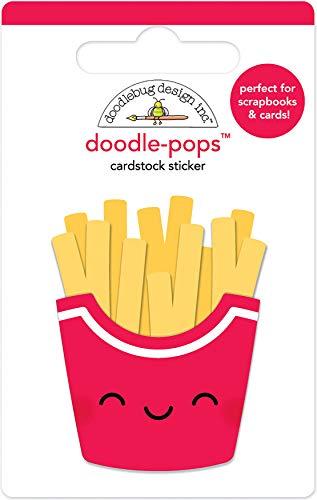 Doodlebug DP6041 Doodle-Pops 3D Stickers, Fry ()