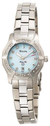 Bulova Women's 96R109 Diamond Accented Stainless Steel Bracelet Watch