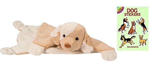 [Douglas Dog Cuddle Mat Plush Animal with Dog Sticker Book, 22x30