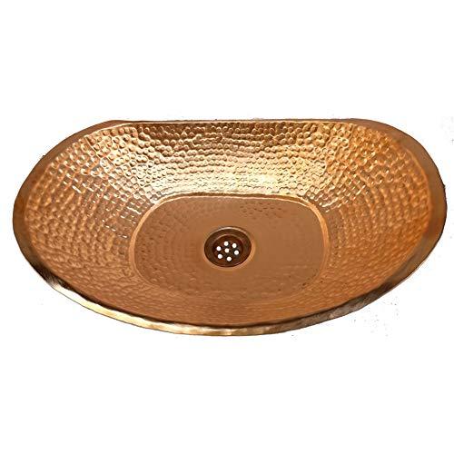 - Gold Polished Vessel Bathtub Copper Bathroom Sink