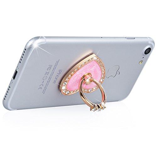 WeLoveCase Universal Phone Ring Holder Grip Kickstand con Cristal Diamantes Métal Rotación Soporte de Teléfono Hebilla Finger Stand Función para Smartphones y Tabletas - Mandala Amor