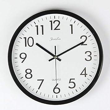 FunRun Modernos Elegante Reloj de pared silencioso de cuarzo 25 cm de diámetro para la decoración