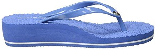 Tommy Hilfiger M1285ona 16r, Sandalias de Punta Descubierta para Mujer Azul (Riviera 415)