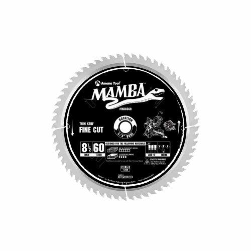 Amana Tool Mamba Series MA8560 Thin Kerf Fine Cut 8-1/2-Inch x 60 Tooth x ATB+F Grind 5/8-Inch Bore Saw Blade ()