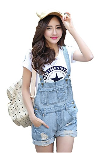 AvaCostume Womens Fashion Frayed Overall