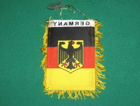 Kaputar German Eagle Mini Banner Flag Great for CAR Home Window Mirror Hanging 2 Sided | Model FLG - 7941