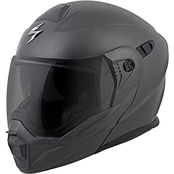 bb167e32 ScorpionEXO Unisex-Adult Modular/Flip Up Adventure Touring Motorcycle Helmet  (Anthracite, Large) (EXO-AT950 Solid)