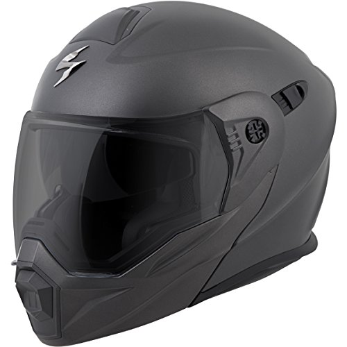 - ScorpionEXO Unisex-Adult Modular/Flip Up Adventure Touring Motorcycle Helmet (Anthracite, X-Large) (EXO-AT950 Solid)