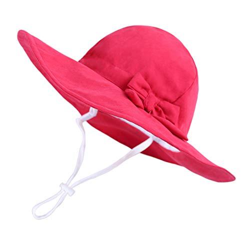DANMY Baby Girl Sun Hat with UPF 50+ Outdoor Adjustable Beach Hat with Wide Brim Bucket Hats