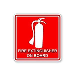 Amazon.com: Fire Extinguisher On Board Sticker for Boat RV