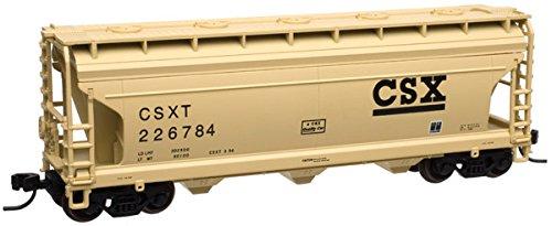 Atlas Trainman N 50003396 ACF 3560 3-Bay Covered Hopper, CSX (Acf 3 Bay Covered Hopper)