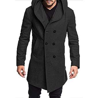 Sex Eden Brand Wool Coat Men Long Winter Jacket Casual