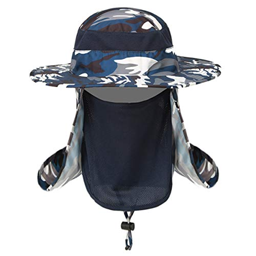 50 Free Caps - Sun Hat Unisex Fishing Cap,Garden Travel Outdoor Sports Caps,360° UV Sun Protection UPF 50+,with Face Cover Mask Neck Flap