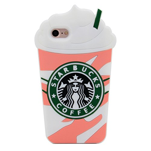 Cup Case Pack (3D Pink Frappuccinos Starbucks Coffee Cup Case Case for iPhone 7 8 iPhone7 iPhone8 Regular Size 4.7