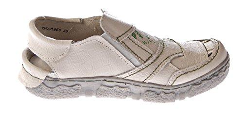 TMA - Sandalias de vestir de Piel Lisa para mujer Blanco - blanco