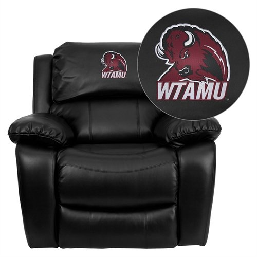 Flash Furniture West Texas A&M University Buffaloes Embroidered Black Leather Rocker Recliner [MEN-DA3439-91-BK-41113-EMB-GG]