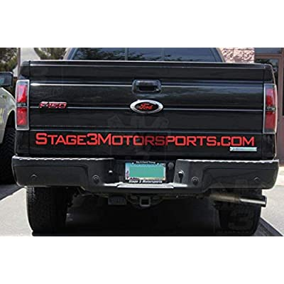 OSIRCAT 7 Inch Front Tailgate Emblem,Decal Badge Nameplate for Ford Escape Excursion Expedition Freestyle F-150 F-250 F350 (Black Red): Automotive