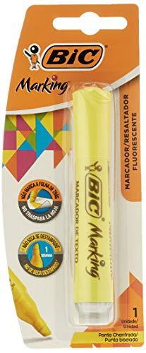 Pincel marca texto chanfrado amarelo 904196 Bic, BIC, 904196, Amarelo