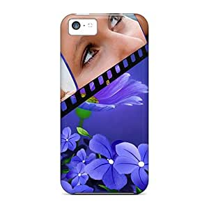 Anti-scratch Case Cover LauraGroff-Y Protective Violets Are Blue Case For Iphone 5c