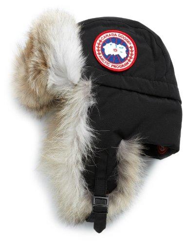 Canada Goose Men's Aviator Hat,Black,Large-X-Large