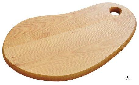 Yamako Wooden Cutting Board with Bean Shape (L) 88074 Made in Japan by Yamako