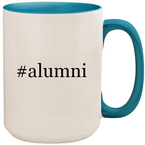 #alumni - 15oz Ceramic Colored Inside and Handle Coffee Mug Cup, Light Blue